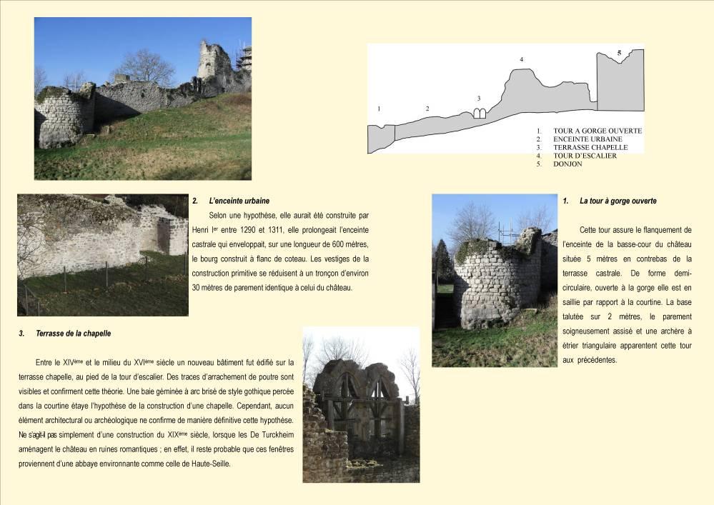 Tour Sud Est, enceinte urbaine et terrasse de la chapelle